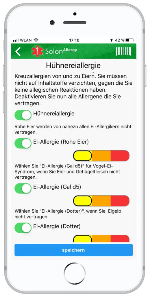 Allergie gegen Eier